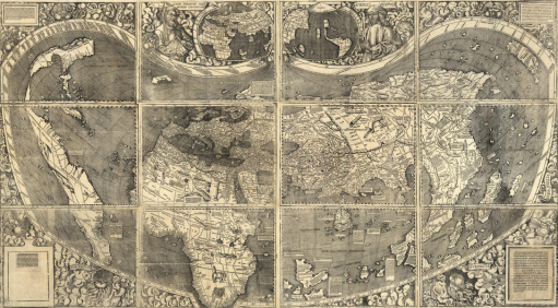Universalis Cosmographia 1507 http://www.learnnc.org/lp/multimedia/6969