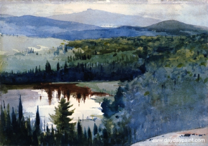 Indian-Village-Adirondacks-Painting-by-Winslow-Homer